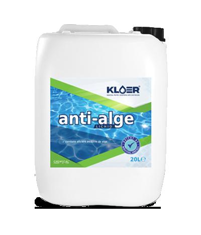 Anti-alge lichid 20L. Eliminare algele din piscina. Tratament apa verde piscina. Eradicare alge piscina. Tratare alge piscina. Antialge lichid.