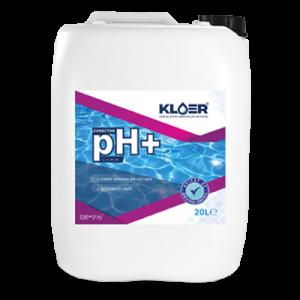 Corector ph+ lichid 20l. Tratare ph apa. Crestere ph apa piscina, spa. Crestere ph apa acida. Crestere valoare ph apa. Corector ph pozitiv lichid.