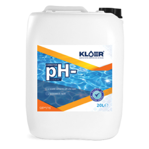 Corector pH- lichid 20L. Scadere ph apa piscina. Corector ph apa bazica. Corector ph lichid. Corector ph dozare manuala. Tratament apa piscina.