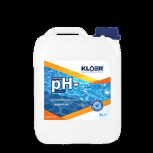 Corector ph- lichid 5l. Scadere ph apa piscina, spa. Tratare ph apa. Tratare ph solutie lichida. Scadere ph apa. Corector ph negativ.
