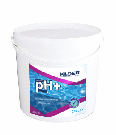 Corector ph+ solid 20kg, corecot ph solid. Corector ph apa acida. Corectare ph apa. Tratare apa piscina. Crestere nivel ph apa.