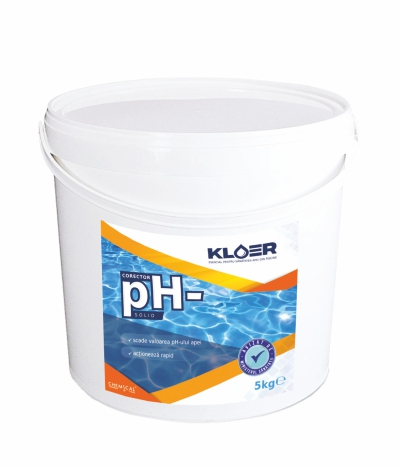 Corector ph- solid 5kg, corector ph apa. Scadere ph apa piscina. Tratament solid ph apa piscina. Ph apa. Scadere ph apa bazica.