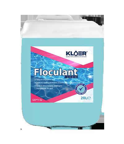 Floculant lichid 20l, limpezire apa piscina. Tratament pentru limpezire apa. Solutie pentru limpezire apa. Tratare apa piscina.