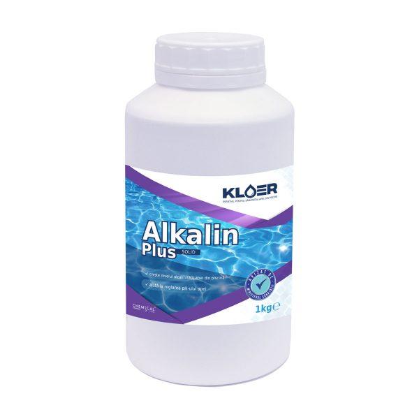 Alkalin plus solid 1kg, creste nivelul alcalinitatii apei. Esential pentru tratarea ph. Reduce consumul de produse chimice folosite in tratarea apei.