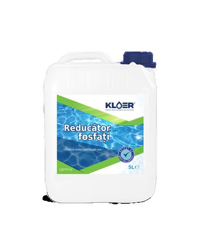 Reducator Fosfati 5L. Algele se hrănesc cu fosfați. Utilizând KLOER – Reducător fosfați reduceți nivelul fosfaților din apă prevenind dezvoltarea acestora.