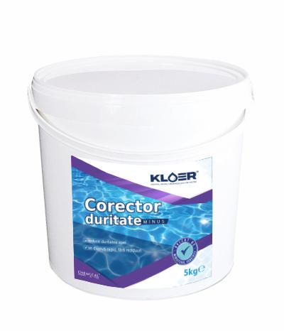 Corector duritate minus Kloer 5 kg, scade duritatea apei din piscină când aceasta este crescută (peste 450 ppm), pentru a preveni apariția depunerilor de calcar. Limpezire apa piscina. Solutie pentru limpezire apa.